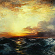 Pacific Sunset Art Print by Thomas Moran