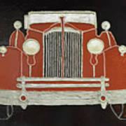 Packard 1937 Red Art Print