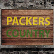 Packers Country Medieval  Art Print