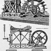 Paddle-driven Beam-engine Suction Pump Art Print