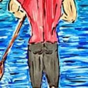 Paddle In Paradise Art Print