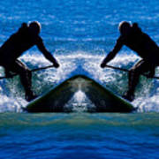 Paddleboarding X 2 Art Print
