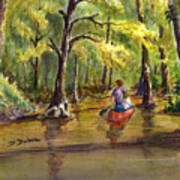 Paddling Into The Swamp Art Print