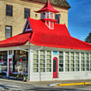 Pagoda Gas Station Art Print