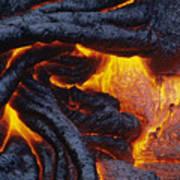 Pahoehoe Lava Texture Art Print