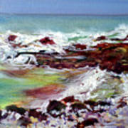 Pahoehoe Winter Surf Art Print