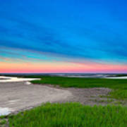 Paines Creek Sunset Cape Cod Art Print