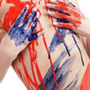 Paint On Woman Body Art Print