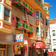 Painted Balconies In San Francisco Chinatown Art Print