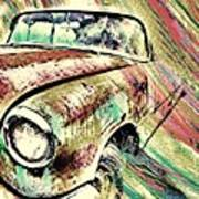 Painted Car Art Print