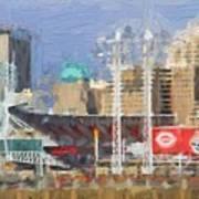Painted Cincinnati Ohio Art Print