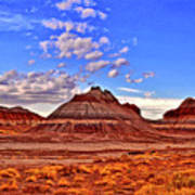 Painted Desert Colorful Mounds 003 Art Print