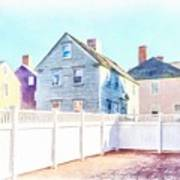 Painted Houses Portsmouth Art Print
