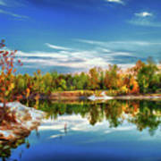 Painted Klondike Autumn Art Print