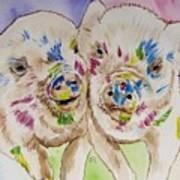 Painted Ladies Art Print