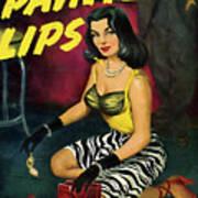 Painted Lips Art Print