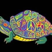 Painted Peace Turtle Too Art Print