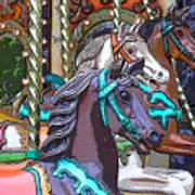 Painted Ponies Art Print