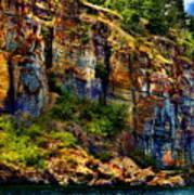 Painted Rock - Flathead Lake Art Print