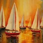 Painted Sails Art Print