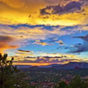 Painted Sky's Over Sedona Art Print