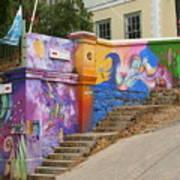 Painted Walls In Valparaiso Art Print