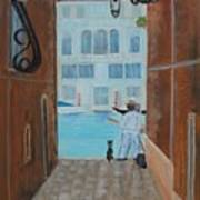 Painter In Venice Art Print