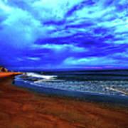 Painterly Beach Scene Art Print