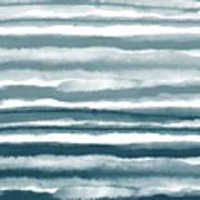 Painterly Beach Stripe 1- Art By Linda Woods Art Print