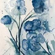 Painterly  Blues Art Print