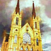 Painterly Church Art Print