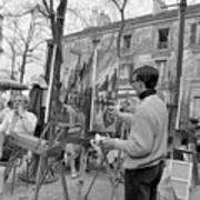 Painters In Montmartre, Paris, 1977 Art Print