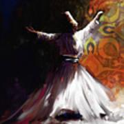 Painting 716 3 Sufi Whirl 2 Art Print