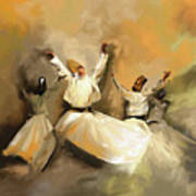 Painting 717 1 Sufi Whirl 3 Art Print