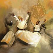 Painting 717 2 Sufi Whirl 3 Art Print