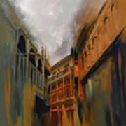Painting 791 4 Wooden Architecture Art Print