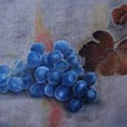 Painting Grapes Art Print
