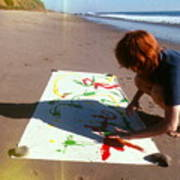 Painting In Sand Art Print