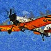 Painting Of Pezetel Aircraft Of Hellenic Air Force Art Print