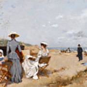Painting On The Beach  Art Print