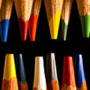 Painting Pencils Art Print