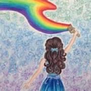 Painting Rainbow Art Print