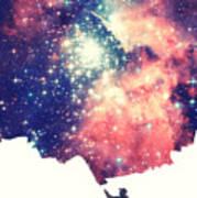 Painting The Universe Awsome Space Art Design Art Print