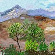 Paisaje- Chile-cerro Campana Art Print