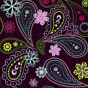 Paisley Abstract Design Art Print