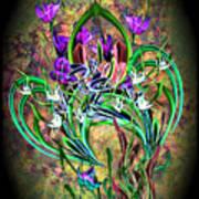 Paisley Floral Art Print