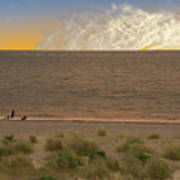 Pakefield Beach Sunset Art Print