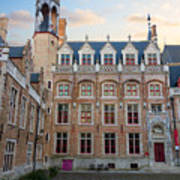 Palace Of Gruuthuse In Brugge Art Print