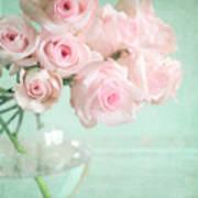Pale Pink Roses Art Print