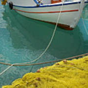 Paleohora Fishing Boat Art Print